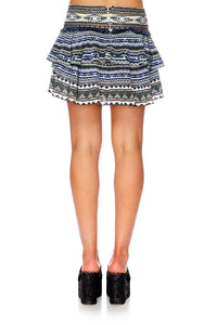 TIE THE KNOT LAYERED FRILL MINI SKIRT