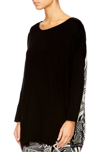 HANGING AROUND LONG SLEEVE JUMPER W PRINT BACK