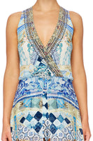 LOVERS DREAM OVERLAY WRAP PLAYSUIT