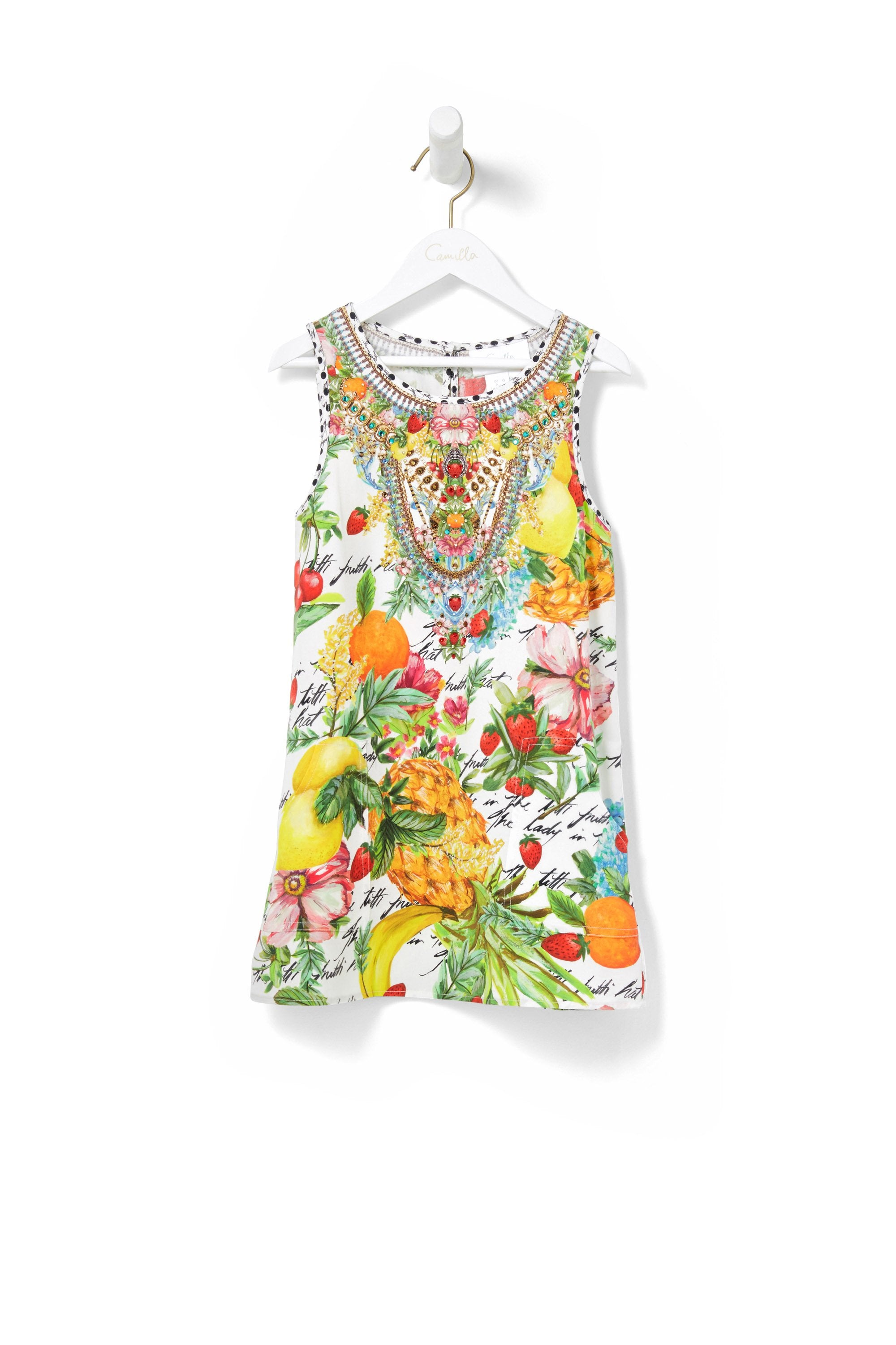 THERES NO PLACE LIKE RIO KIDS TANK DRESS