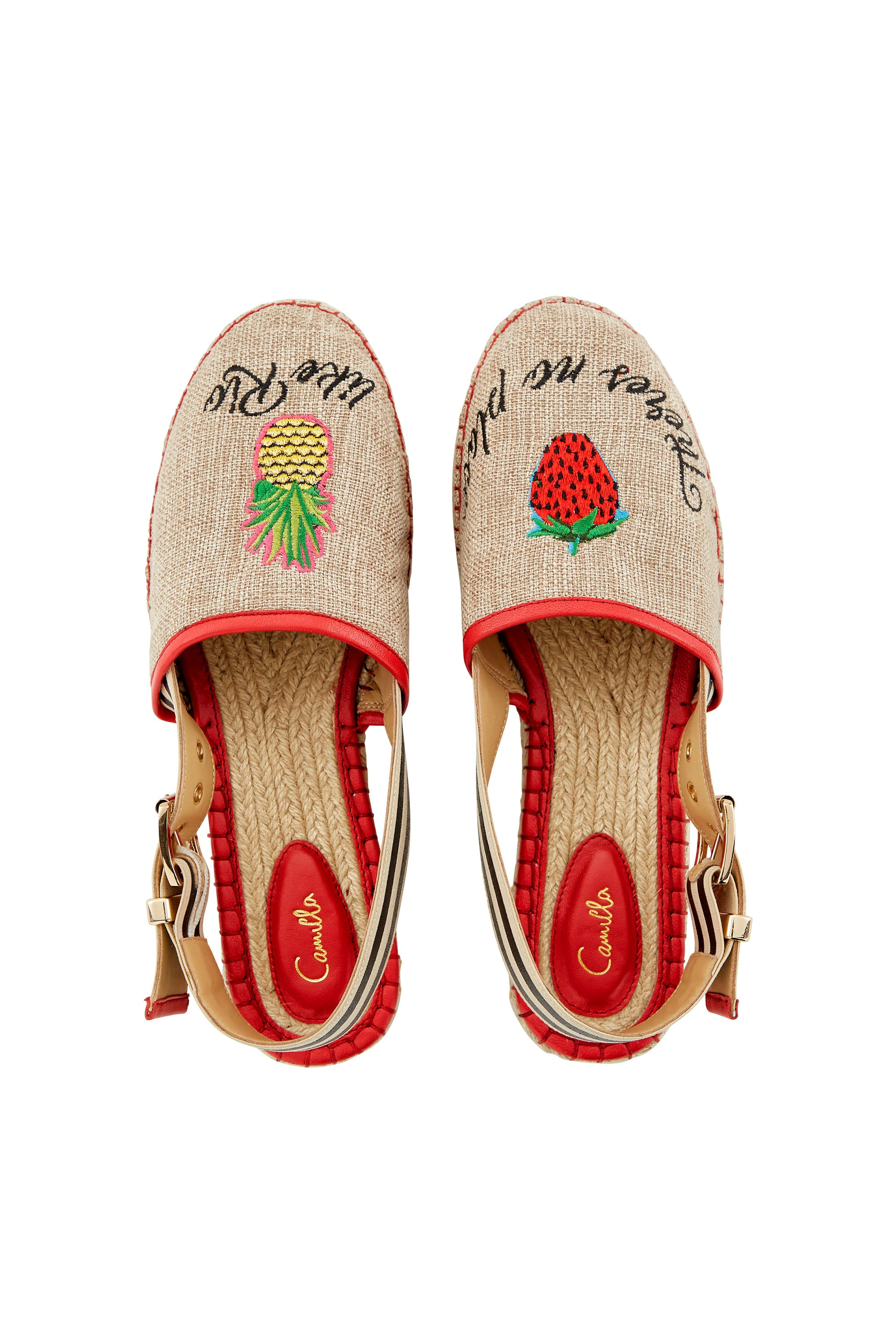 CAMILLA THERES NO PLACE LIKE RIO SLING BACK ESPADRILLE