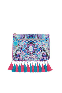 THREADS OF COSMOS SMALL CANVAS CLUTCH
