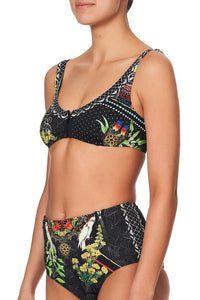 ZIP FRONT CROP BRA BLACKHEATH BETTY