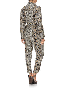 ZIP FRONT PANEL JUMPSUIT KAKADU BOO