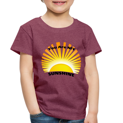 Premium You Are My Sunshine Shirt / Women's Shirt / Women's Clothes / Vintage Retro Style Tee / Ladies Graphic T-shirt / You Are My Sunshine Tee - heather burgundy
