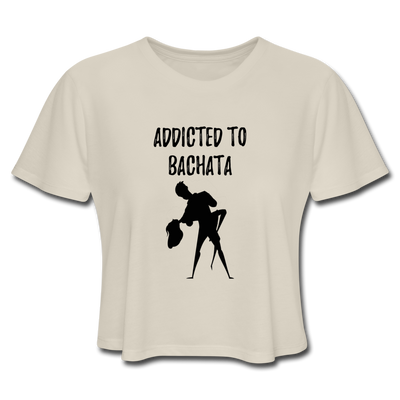 Addicted To Bachata Flow Women's Cropped T-Shirt - Dust