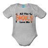 Organic Short Sleeve Action Man Halloween Onesie®, All the Ghouls love me, Baby Onesie® Baby boy, Toddler shirt, Funny Onesie®, Newborn Onesie®, 1st Halloween, Hallows Eve - heather gray