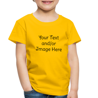 Premium Custom Toddler Shirt | Personalized Kids Shirt | Custom Baby Shirt | Custom Kids Shirt| Custom Toddler Shirt | - sun yellow