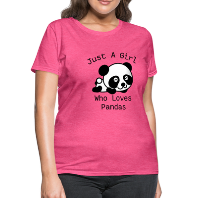 Just a Girl Who Loves Pandas Women's T-Shirt - heather pink