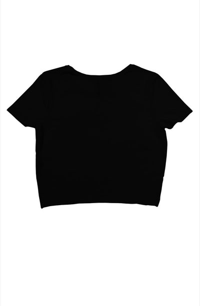 Crop Top Dip Black