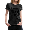 Women's Premium Couples I Like His Beard Shirt with Image - charcoal gray