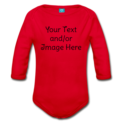Custom Onesie® | Personalized Onesie® | Custom Baby Onesie® | Custom Baby Shirt | Baby Shower Gift | Custom Toddler Shirt | - red