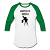 Addicted To Bachata Baseball T-Shirt - white/kelly green