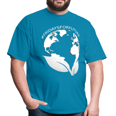 Fridays for Future - Climate Strike - Adult Unisex Tee T-Shirt - turquoise