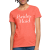 Women's Bridesmaid Shirts | Bachelorette Party Shirts | Maid Of Honor Shirts | Bridal Party Shirts - heather coral