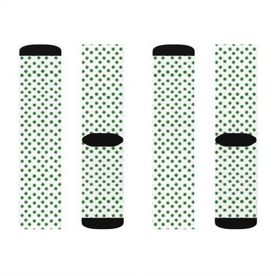 St. Patrick's Day Allover clover Sublimation Socks