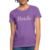 Women's Bride T-Shirt Bridesmaid Shirts | Bachelorette Party Shirts | Maid Of Honor Shirts | Bridal Party Shirts - purple heather