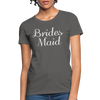 Women's Bridesmaid Shirts | Bachelorette Party Shirts | Maid Of Honor Shirts | Bridal Party Shirts - charcoal