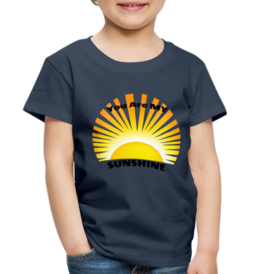 Premium You Are My Sunshine Shirt / Women's Shirt / Women's Clothes / Vintage Retro Style Tee / Ladies Graphic T-shirt / You Are My Sunshine Tee - navy