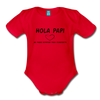 Spanish Pregnancy Announcement Organic Long Sleeve Baby Bodysuit - red