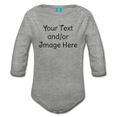 Custom Onesie® | Personalized Onesie® | Custom Baby Onesie® | Custom Baby Shirt | Baby Shower Gift | Custom Toddler Shirt | - heather gray
