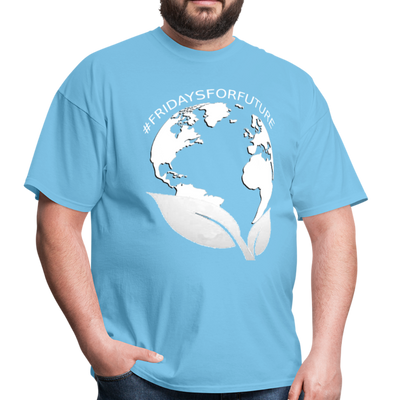 Fridays for Future - Climate Strike - Adult Unisex Tee T-Shirt - aquatic blue