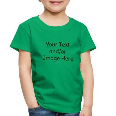 Premium Custom Toddler Shirt | Personalized Kids Shirt | Custom Baby Shirt | Custom Kids Shirt| Custom Toddler Shirt | - kelly green