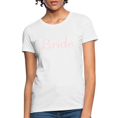 Women's Bride T-Shirt Bridesmaid Shirts | Bachelorette Party Shirts | Maid Of Honor Shirts | Bridal Party Shirts - white