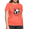 Just a Girl Who Loves Pandas Women's T-Shirt - heather coral