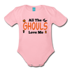 Organic Short Sleeve Action Man Halloween Onesie®, All the Ghouls love me, Baby Onesie® Baby boy, Toddler shirt, Funny Onesie®, Newborn Onesie®, 1st Halloween, Hallows Eve - light pink
