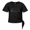 #bachatera Women' s Knotted T-Shirt - black