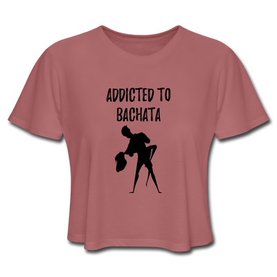 Addicted To Bachata Flow Women's Cropped T-Shirt - mauve