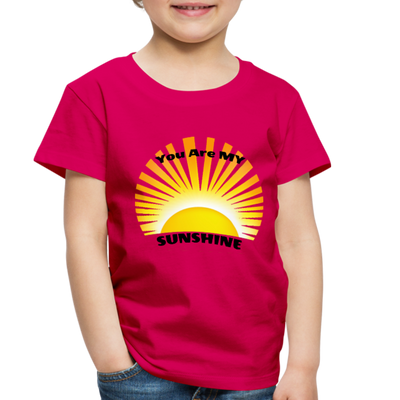 Premium You Are My Sunshine Shirt / Women's Shirt / Women's Clothes / Vintage Retro Style Tee / Ladies Graphic T-shirt / You Are My Sunshine Tee - dark pink