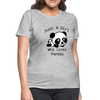 Just a Girl Who Loves Pandas Women's T-Shirt - heather gray