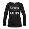 Leaves & Lattes Women's Premium Long Sleeve T-Shirt - charcoal gray