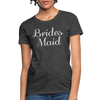 Women's Bridesmaid Shirts | Bachelorette Party Shirts | Maid Of Honor Shirts | Bridal Party Shirts - heather black