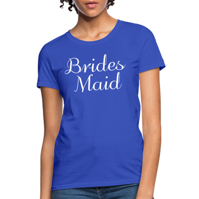 Women's Bridesmaid Shirts | Bachelorette Party Shirts | Maid Of Honor Shirts | Bridal Party Shirts - royal blue