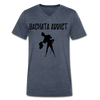 Bachata Addict Men's V-Neck T-Shirt - heather navy
