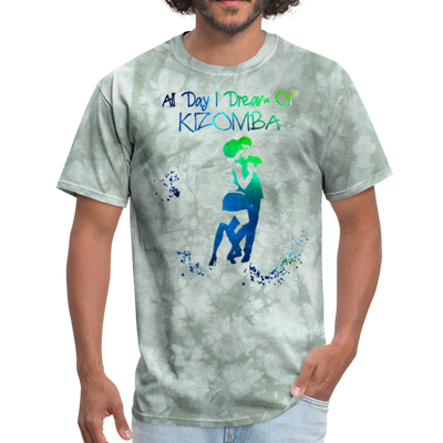 All Day I Dream Of Kizomba - military green tie dye