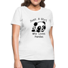 Just a Girl Who Loves Pandas Women's T-Shirt - white
