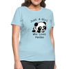 Just a Girl Who Loves Pandas Women's T-Shirt - powder blue