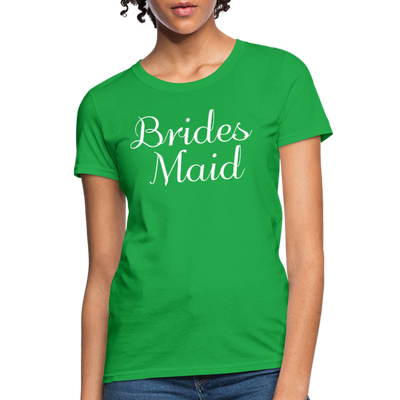 Women's Bridesmaid Shirts | Bachelorette Party Shirts | Maid Of Honor Shirts | Bridal Party Shirts - bright green