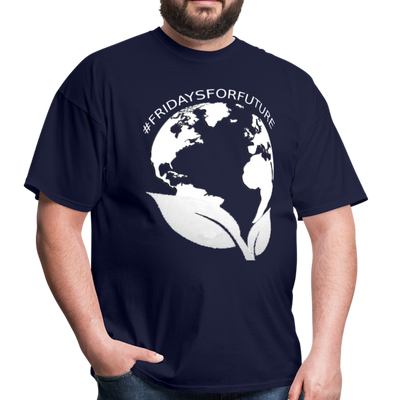 Fridays for Future - Climate Strike - Adult Unisex Tee T-Shirt - navy