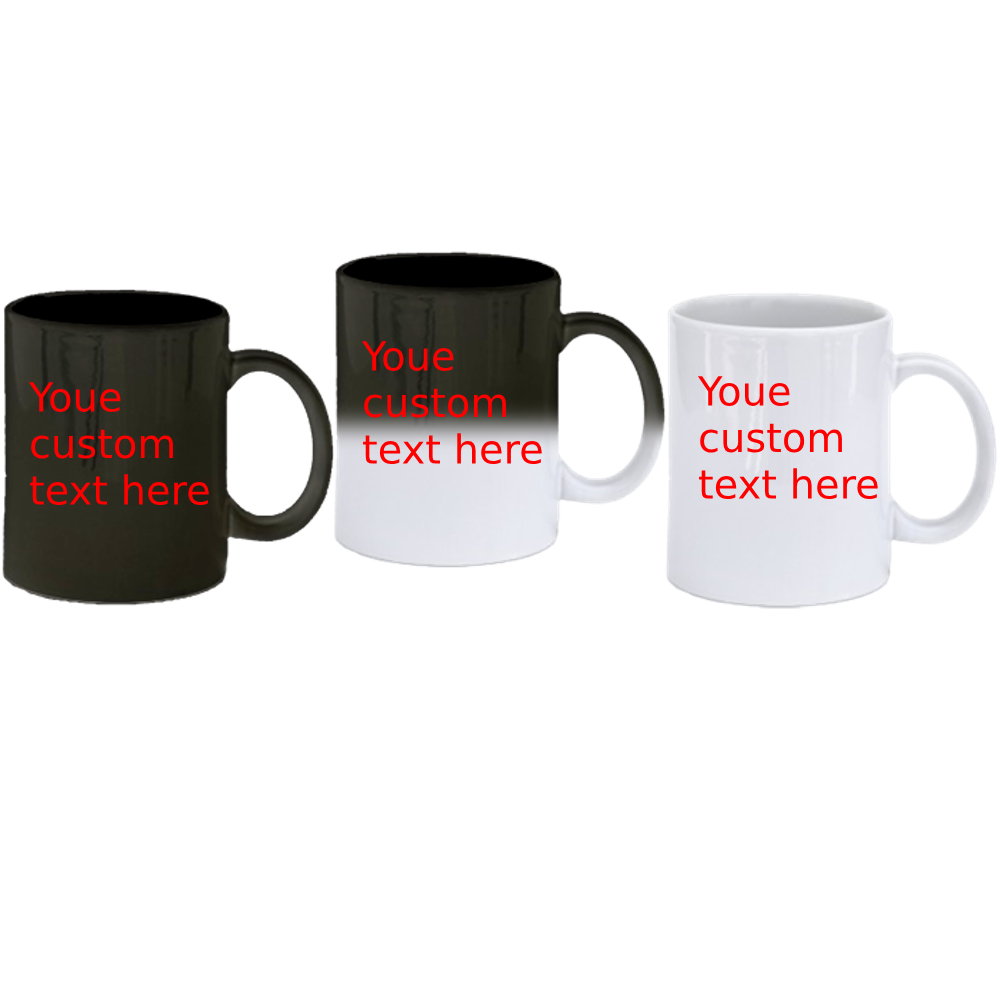 Design Your Own Custom Mug|Designed For You By You - Black - Color Change