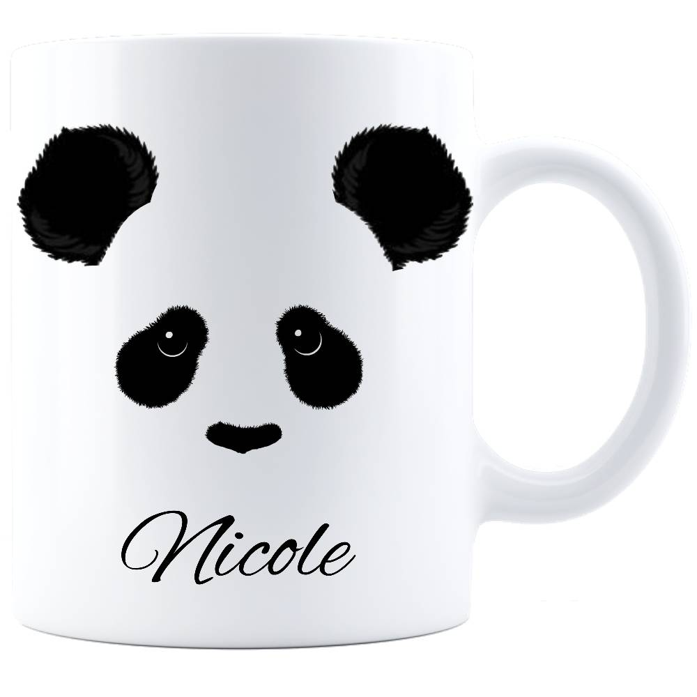 Custom Panda Face White Mug