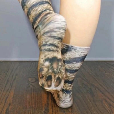 Adult Unisex Animal Paw Socks (ONE SIZE FITS ALL)