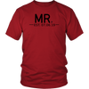 Mr. {with est. Date} Flowy Racerback T-Shirt Set /// Honeymoon Shirts, Just Married Shirts, Couples Shirts