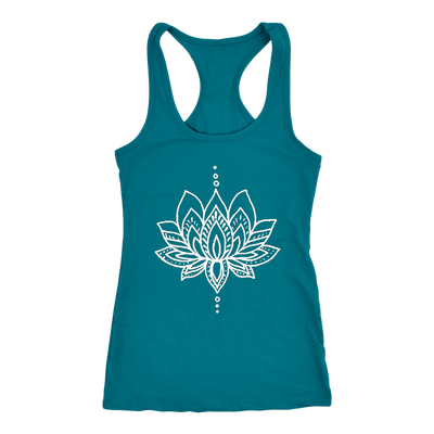 Lotus Flower Tank - Muscle Tee- Yoga Tank - Screen Print - Summer Shirt - Vacay Shirt - Gift for Women