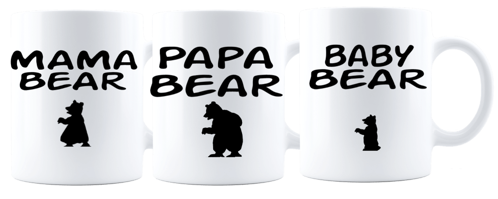 Papa Bear/Mama Bear/Baby Bear Mug|Pregnancy Announcement|Father Gift|Dad Mug|Mother's Gift|Mom Mug