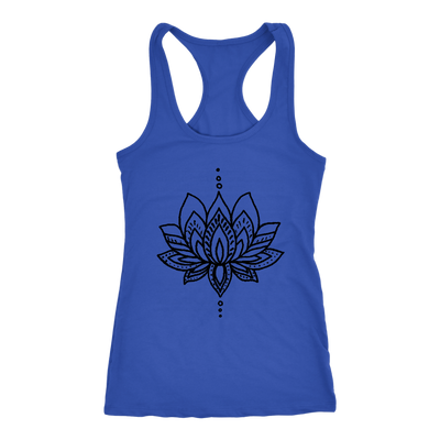 Lotus Flower Tank - Muscle Tee - Yoga Tank - Screen Print - Summer Shirt - Vacay Shirt - Gift for Women
